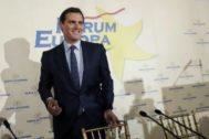 El presidente de Ciudadanos, Albert Rivera, en el desayuno que ha protagonizado este viernes en Madrid.
