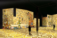 Recreación digital para la exposición 'El oro de Klimt'.