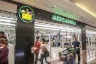 Una tienda de Mercadona en el  centro comercial de Jerez de la Frontera