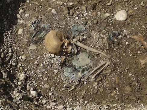 Tumba de una mujer rica de la Edad de Bronce.