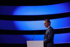 Pedro Duque, ministro de Ciencia en funciones, durante la clausura del Congreso del Espacio