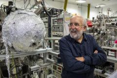 El astrónomo suizo Michel Mayor, esta mañana en el Centro de Astrobiología