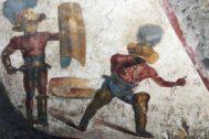 Imagen del nuevo fresco aparecido en Pompeya.