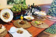 Los productos propios de la huerta son uno de los atractivos de estos restaurantes, caso de El Cruce.
