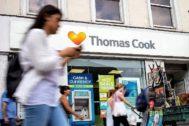 Sede de Thomas Cook en Reino Unido el día en el que se anunció que el operador, el más longevo del mundo, echaba el cierre.