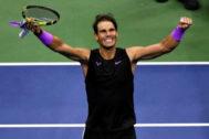 Rafa Nadal, durante el US Open.