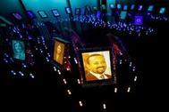 Una pintura del Nobel de la Paz, el primer ministro etíope Abiy Ahmed.