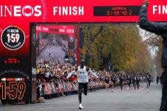 Kipchoge, primer humano en correr un maratón en menos de dos horas