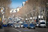 La calle Serrano de Madrid.