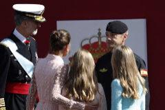 """La Reina, al militar accidentado: """"No te preocupes"""""""