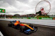 Sainz, durante una sesión libre del viernes en Suzuka.