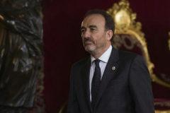 El presidente de la Sala de lo Penal del Supremo, Manuel Marchena, en el Salón del Trono del Palacio Real.