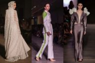 Edén Valverde, Laura Rivero y Vanesa Sánchez en la pasarela de la Alicante Fashion Week