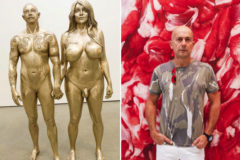 Marc Quinn y una de sus nuevas esculturas.