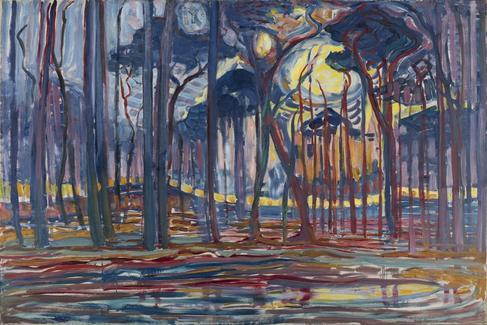 Bosques cerca de Oele (1908) de Piet Mondrian.
