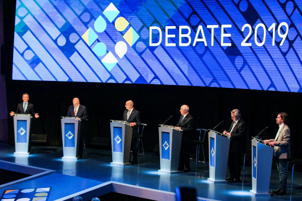 Argentinian presidential debate at the Litoral University in Santa Fe