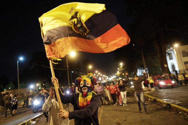 AME9514. QUITO (<HIT>ECUADOR</HIT>), 13/10/2019.-Manifestantes...