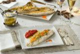 Recetas saludables con Thermomix: perca asada, compota de tomate y vinagreta de huevas de salmón