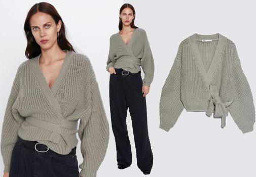 Este jersey de Zara combina con los pantalones altos y