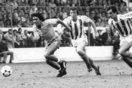 Mágico, ante Orbegozo y Górriz, en Atocha, en 1983.