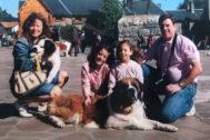 La familia Quer al completo cuando eran felices