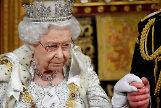 La reina, Isabel II, en el Parlamento británico.