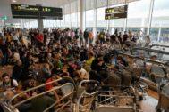 Disturbios en el aeropuerto de El Prat (Barcelona) por las protestas de independentistas.