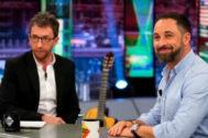 Entrevista de Pablo Motos a Santiago Abascal (Vox) en 'El hormiguero'.