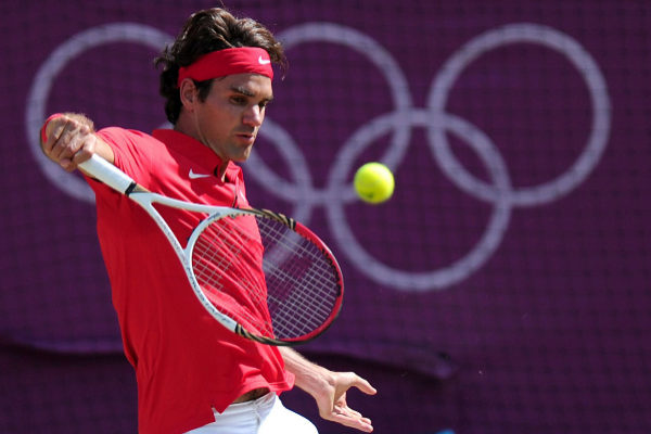 Roger Federer, durante la final de los Juegos de 2012.