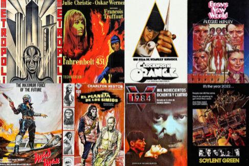 Carteles de películas de trama distópica: de 'Metrópolis' a 'El planeta de los simios'.