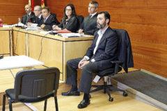 Miguel López, ayer, en la primera sesión del juicio.