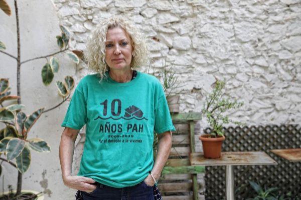 Mónica, expulsada junto a sus dos hijas de su piso en julio.
