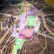 Maqueta del proyecto Madrid Nuevo Norte, conocido como la operación Chamartín.