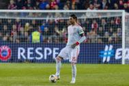 Sergio Ramos con la selección española de fútbol