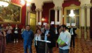 Los diputados de Més per Mallorca, Miquel Ensenyat, Joan Mas 'Collet', Josep Ferrà y Joana Campomar.