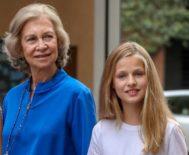 La Reina Sofía y la Princesa Leonor, en una imagen de este verano.