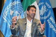 Torino (Italy).- Juventus' goalkeeper Gianluigi <HIT>Buffon</HIT> during his nomination as Ambassador of the UN World Food Programme, Turin, Italy, 09 October 2019. (Italia) EPA/