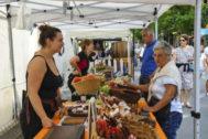 Mercado de productos agrícolas en San Sebastián