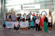 Llegada del #DesafíoQuirónsalud 2019 Pedaleando por la Inclusión  a Alicante.