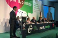Juanma Moreno, en la clausura del congreso de CSIF.