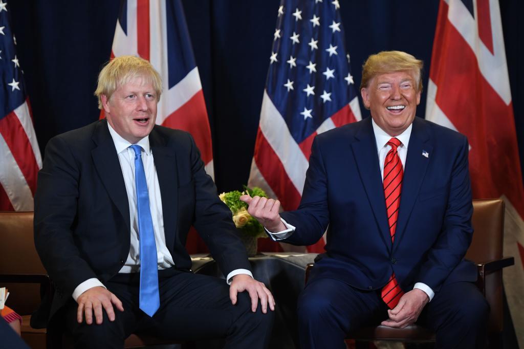 Boris Johnson y Donald Trump en Nueva York.