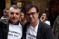 Manuel Vilas y Javier Cercas en una imagen de archivo.