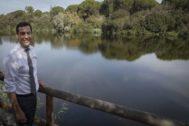 El presidente de la Junta, Juan Manuel Moreno, este martes en Doñana.