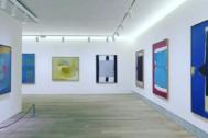 Obras de José Guerrero y Esteban Vicente en la exposición dedicada a ambos.