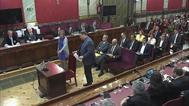 El ex vicepresidente catalán y ex responsable de Economía, Oriol Junqueras, en un momento del juicio al 'procés'.