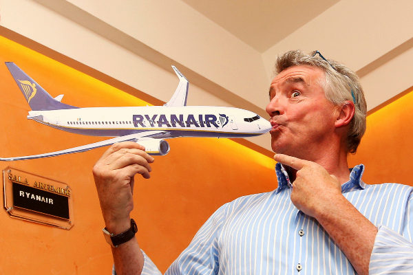 <HIT>Ryanair</HIT> CEO Michael O&apos;Leary poses following a news...