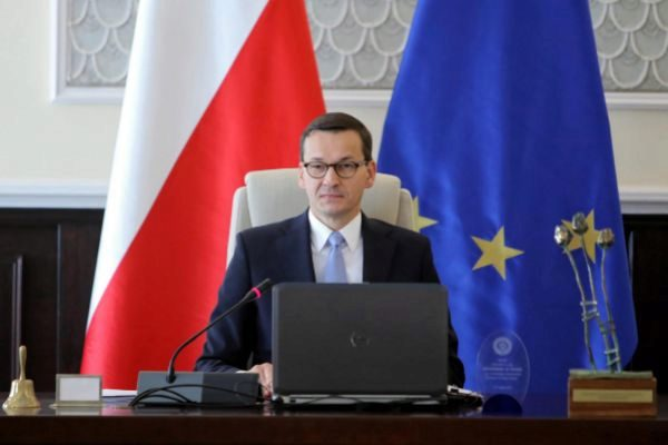 Warsaw (Poland).- Polish Prime Minister Mateusz Morawiecki attends a...