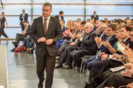 Iñgo Urkullu se dispone a intervenir en la Competencia sobre Competitividad.