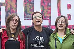 Las hermanas de Puigdemont encabezan las marchas