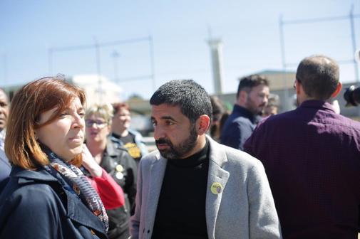 El consejero de Trabajo catalán, Chakir El Homrani, en una visita a...
